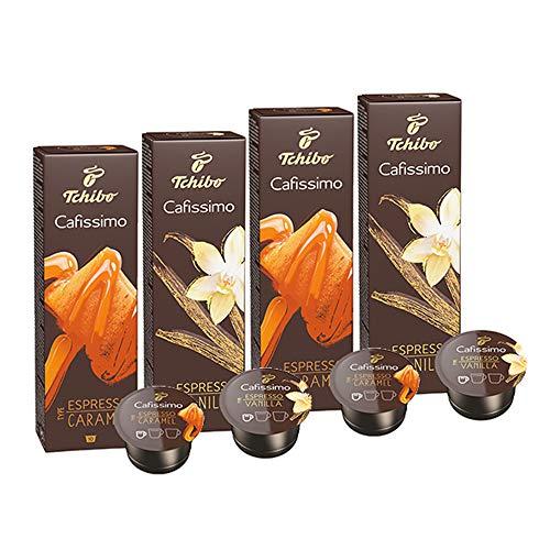 Probierset Tchibo Cafissimo Flavoured Edition Espresso Caramel & Espresso Vanilla, 40 Stück (2 x 20 Kapseln)