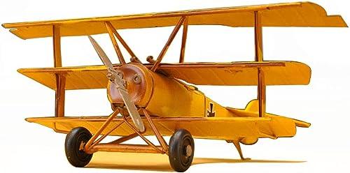 precios mas bajos LINGLING-Modelo Modelo Modelo Modelo De Metal Retro Decoración Aviones De Combate Modelo Retro Adornos Joyería Sala Decoraciones Creativas (Color   amarillo)  respuestas rápidas