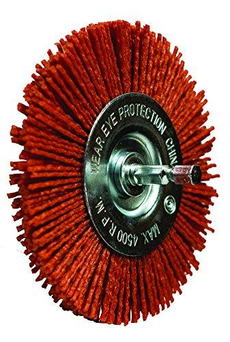 Century Drill and Tool 77441 Coarse Nylon Abrasive Radial Brush, 4-Inch