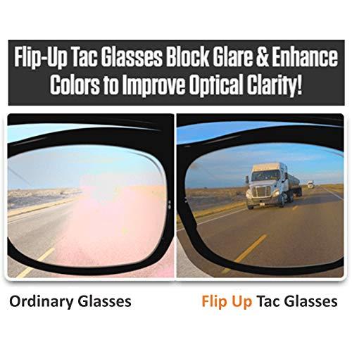 TAC FLIP Glasses by Bell+Howell Sports Polarized Flipping Sunglasses for Men Military-Inspired As Seen On TV (Regular Day Vision)