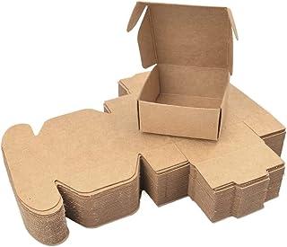 Goodern 50PCS Mini Kraft Paper Box,DIY Cardboard Box,Handmade Soap Holder,Earring Brooch Favor Box,Small Mailing Box,DIY G...