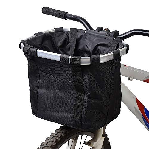 Borsa ciclismo con telaio in lega di alluminio Cestino della spesa, Cestino della bici, Cestino della bicicletta del seggiolino cani del gatto degli animali domestici, Cestino del manubrio del tras