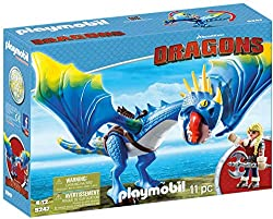 Fun for little adventurers: DreamWorks Dragons Astrid and Stormfly with movable wings, jaws and legs, Viking outfit and accessories Removable saddle, double axe, flying possible while standing and sitting, etc., Can be combined with 70037 Hiccup and ...
