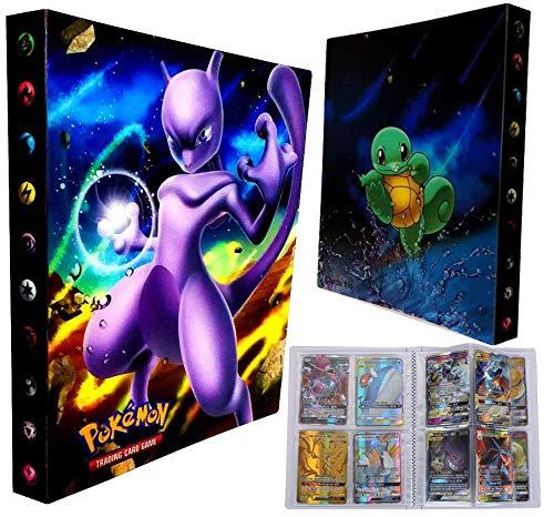 Eholder Pokemon Karten GX Sammelkarten, Pokemonkarten 100 Stück Set mit 50 GX Pokemon-Karten 10 Flash Trainer Karten 20 Energie 20 Mega Karten Kinder Pokemon Kartenspiele (Mewtwo)