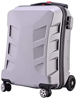 Travel Supplies Scooter Trolley Luggage Suitcase Transformers Child Student Carrying Luggage Items (Color : Grey, Size : 20 inches)