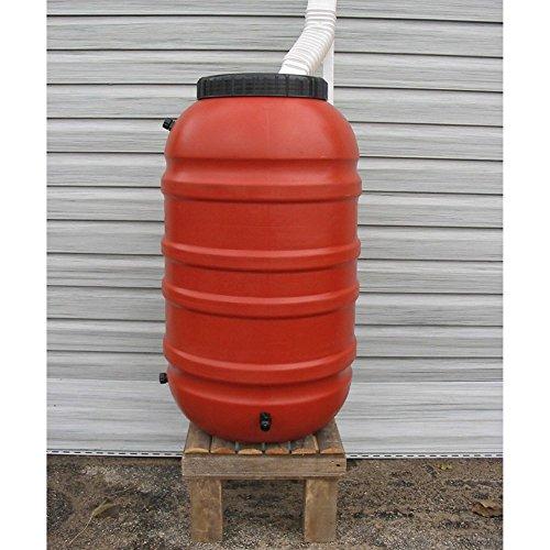 Upcycle 55 Gallon Terra Cotta Rain Barrel