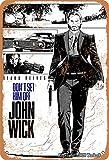 Póster de John Wick Don't Set Him Off John Wick Iron con aspecto retro, 20,3 x 30,4 cm, decoración para el hogar, cocina, baño, granja, jardín, garaje, citas inspiradoras para decoración de pared