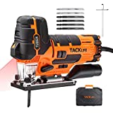 TACKLIFE Sierra de Calar 800W, 0~3000RPM con Láser & LED, 6 Cuchillas, 6 Velocidad Variable, Corte...