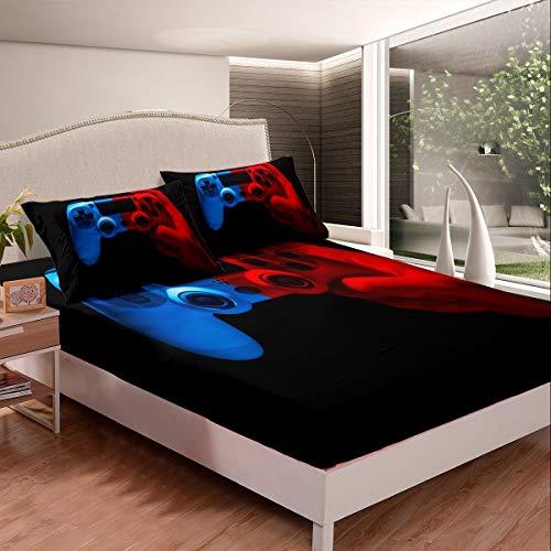 Juego de sábanas para juegos de cama para niños, niñas, adolescentes, videojuegos, juego de cama, juego de cama, juego moderno, funda de cama, 3 unidades, tamaño doble