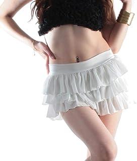 008yo-w 選べる自分丈フリルミニスカート☆ホワイト