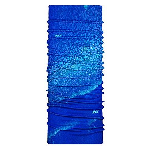 P.A.C. UV Protector + Blue Reef Multifunktionstuch - nahtloses Mikrofaser Schlauchtuch, Halstuch, Kopftuch, UV-Schutz, Unisex, 10 Anwendungsmöglichkeiten