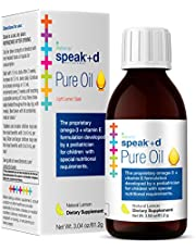 Lifetrients Speak+D Pure Oil Natural Lemon 3.04 Oz Pediatrician Formulated To Support Children With Special Nutritional Requirements Enhanced With Omega 3 Vitamin E Vitamin D & Vitamin K