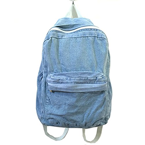 School Backpacks for Women Mens Canvas College Backpack Classic Denim Student Satchel School Bag Jeans Travel Purse Daypack