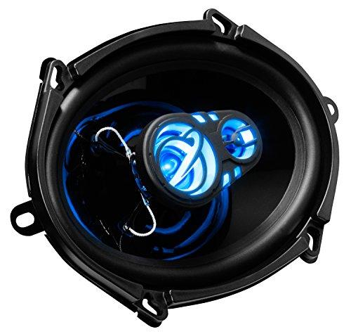 Planet Audio AC573 5 x 7 Inch Car Speakers - 300 Watts of Power Per Pair, 150 Watts Each, Full Range, 3 Way, Sold in Pairs