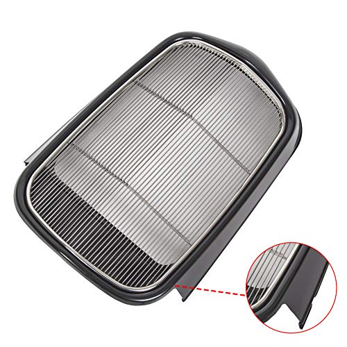 ECOTRIC Polished Stainless Steel Front Grille Shell + Insert (Black/Metallic) Compatible with Ford 1932 Models Model B/BB / 18 (Without Crank Hole)