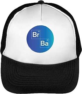 Breaking Bad BR Ba Artwork Gorras Hombre Snapback Beisbol Negro Blanco One Size
