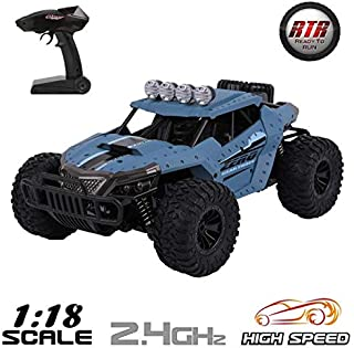 Remote Control Car RC Car 1/18 Scale 2.4Ghz 25km/h Fast Race Radio Controlled Monster Truck Electric Vehicle RTR Rock Crawlers Off Road Rock Climbing Car All Terrain RC Buggy Toy Car for Kids & Adults