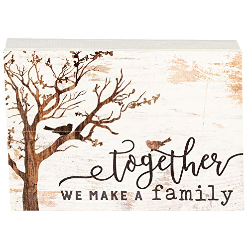 P. Graham Dunn Together We Make A Family Tree White 10 x 7 Inch Solid Pine Wood Boxed Pallet Wall Plaque Sign
