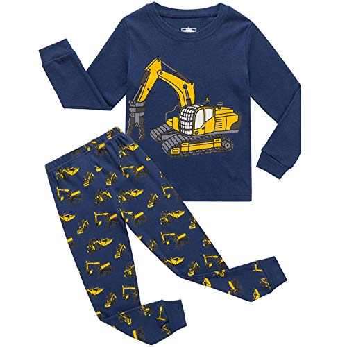 Boys Christmas Pyjamas Set Toddler Kids Cars Train...