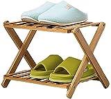 Estante de zapatos Zapatero zapatero zapato plegable de bambú Bastidores, minimalista y moderno a prueba de polvo Estante, robusto y de ahorro de espacio de rack de zapato Estante de zapatos de madera
