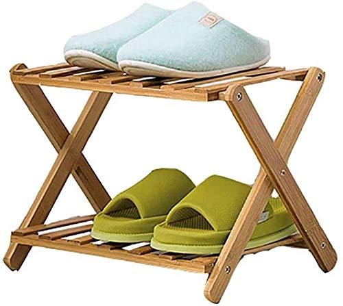 QZMX Estante de Zapatos Zapatero Zapatero Zapato Plegable de bambú Bastidores, Minimalista y Moderno a Prueba de Polvo Estante, Robusto y de Ahorro de Espacio de Rack de Zapato Estante