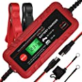 Adakiit 6/12V 4A Smart Battery Charger/Maintainer Fully Automatic 8-Stages Trickle Charger for Automotive Car Motorcycle Lawn Mower Marine Boat RV ATV Sealed Lead Acid Battery by Adakiit