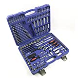 LQUIDE Socket Wrench Tool Set Auto Repair Mixed Tool Combination Ratchet Torque Wrench Tools Kit Auto Repairing Tool Sets Hardware Tool Kits