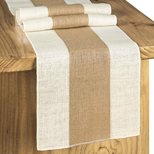 Letjolt Splicing Burlap Table Runner Rustic Table Runner Farmhouse Table Decor Weekend Picnic product image