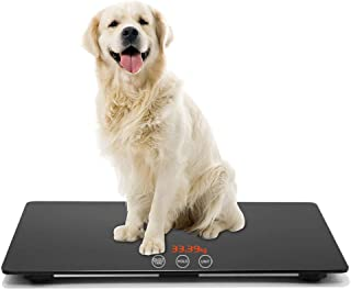 TeaTime Veterinary Scale | Big Dog Weight Scale | Pet Digital Weighing Scale | Large Platform Vet Dog | Auto Hold | KG/LB/LB:OZ Switchable | Dog Scale