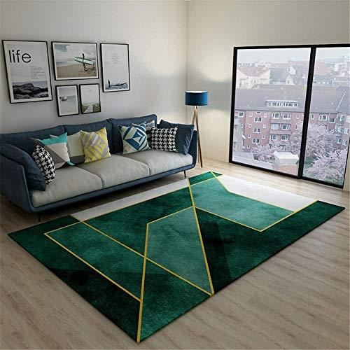 Kunsen cojín meditación Alfombra terraza Alfombra Verde Rectangular Moderna decoración de Sala de Estar fácil de Limpiar alfonbras de Salon 80X120CM 2ft 7.5' X3ft 11.2'