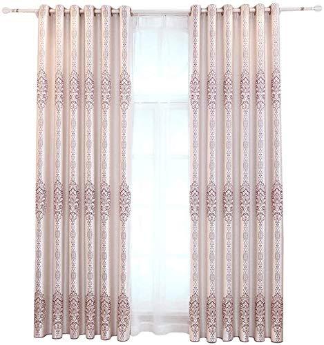 RR & LL gordijnen in Chinese stijl, ondoorzichtig, van katoen en linnen, voor woonkamer, slaapkamer, isolatie, voor werkkamer, zonwering, ramen, vloer Width 250*height 270cm (curtain) 6