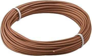 Goobay 55040 koperdraad geïsoleerd, 1-aderig, meerdraads (18 x 0,1 mm), bruin, 10 m kabellengte