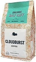 Cloudburst Organic Half Caff Ground Coffee, Medium Roast, 100% USDA Certified Organic Coffee, Non-GMO, 12 oz