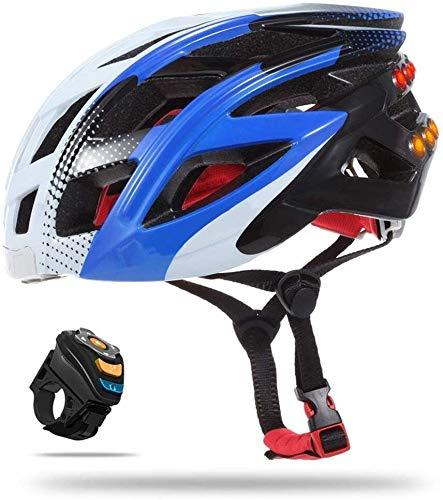 Casco Bluetooth para bicicleta inteligente con luz trasera, tamaño totalmente ajustable, se...