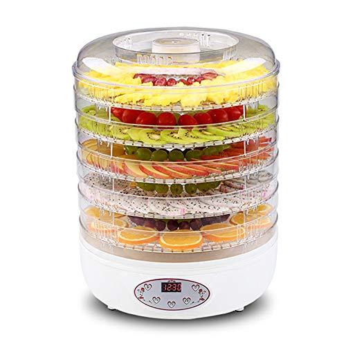 HEMFV Dörrautomat Lebensmittel Trockner for Beef Jerky, Obst, Gemüse, Hunde-Leckerli, Kräuter, Digital-Temperatur mit 5 Tabletts