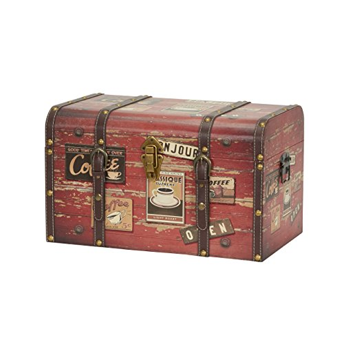 Household Essentials 9245-1 Medium Decorative Home Storage Trunk