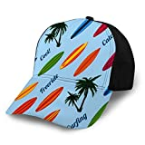 Printed Baseball Cap Hats Vacation with Surfboards Fits Men Women Boys Girls