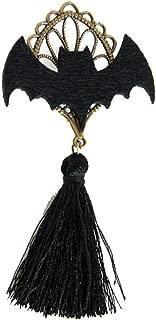 Fenical Lustige Fledermaus Form Quaste Brosche Pin Breastpin Kostüm Zubehör für Halloween Party Dekoration