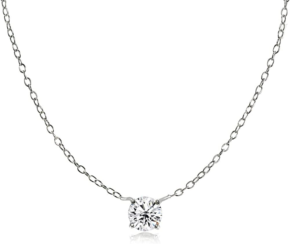 Ice Max 66% OFF Gems Sterling Genuine Silver Small Round Genuine Dainty G Simulated