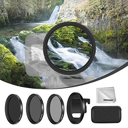 Neewer 3er Pack Kamera-Objektivfilter ND-Filter Set Kompatibel mit GoPro Hero 8 mehrfach beschichteten Filtern ND8/ND16/ND32 Neutral-Objektivfilter mit Ringadapter für im Freien-Sport