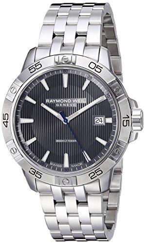 Raymond Weil Reloj Analógico para Hombre de Cuarzo con Correa en Acero Inoxidable 8160-ST2-60001