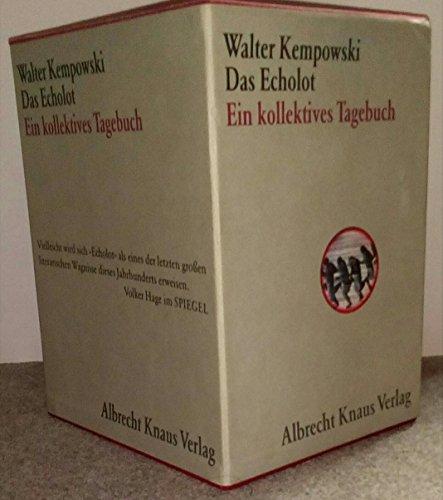 Das Echolot. Ein kollektives Tagebuch. 4 Bände in Schuber.