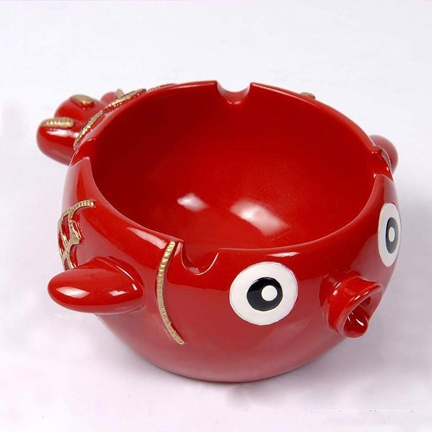 発火する感嘆不忠タバコ、ギフトおよび総本店の装飾のための灰皿の円形の光沢のある樹脂の灰皿