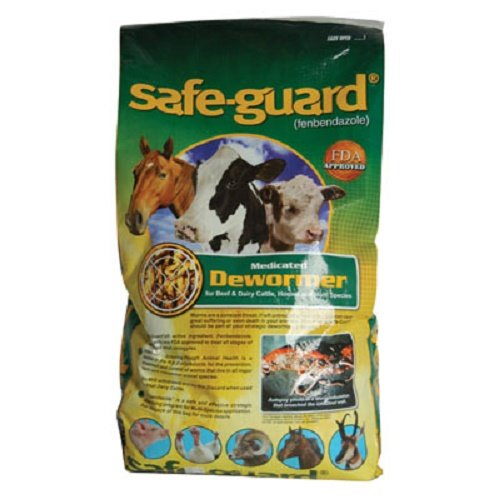 Safe-Guard 0.5% Pellets 1 lb Bag for Use in Horses, Swine, Cows, Zoo and Wildlife Animals