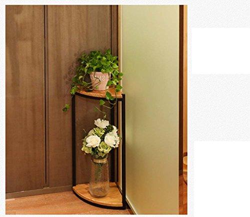 FZN Américain Bois étage Salon Balcon siège de Fleur de Style européen Coin siège escalier en Fleur Multicouche étagère Pots de Fleurs (Taille : 30 * 30 * 58cm)