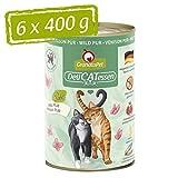 GranataPet Delicatessen Wild PUR, Nassfutter für Katzen, Futter ohne Getreide & ohne Zuckerzusätze, Katzenfutter mit hohem Fleischanteil &...
