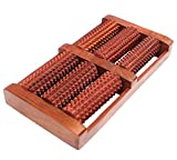 Iwud Wooden Acupressure and Pain Relief 6 Roller Foot Massager (Brown)