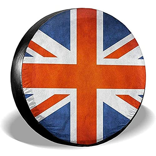 Hokdny Cubiertas para Llantas, Protector Impermeable para Llantas De Repuesto,Bandera De Inglaterra Bandera Cubiertas De Llantas Coche Viaje Remolque Llanta De Repuesto Cubierta De Llanta