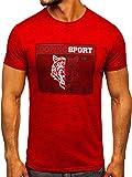 BOLF Hombre Camiseta de Manga Corta Escote Redondo Estampada Crew Neck Entrenamiento Deporte Estilo Diario J.Style...