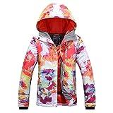 APTRO Damen Skijacke warm Jacke gefüttert Winter Jacke Outdoor Funktionsjacke Regenjacke Weiß 9514 S